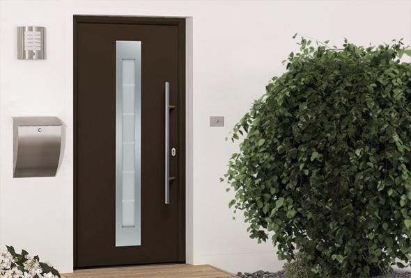 Дверь HÖRMANN RenoDoor (RAL 8028, правая)