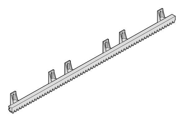 Зубчатая рейка S6 для откатных (сдвижных) ворот