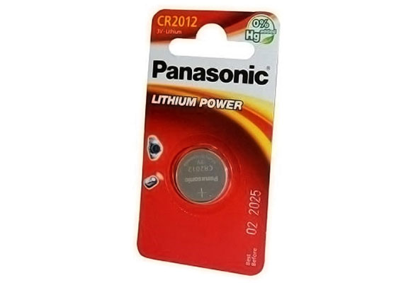 Батарейка PANASONIC LITHIUM POWER CR2012