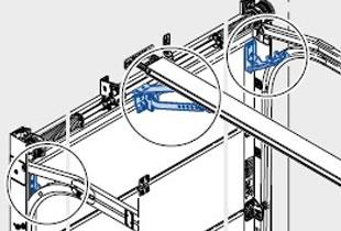 Комплект откидывающихся роликодержателей для проветривания